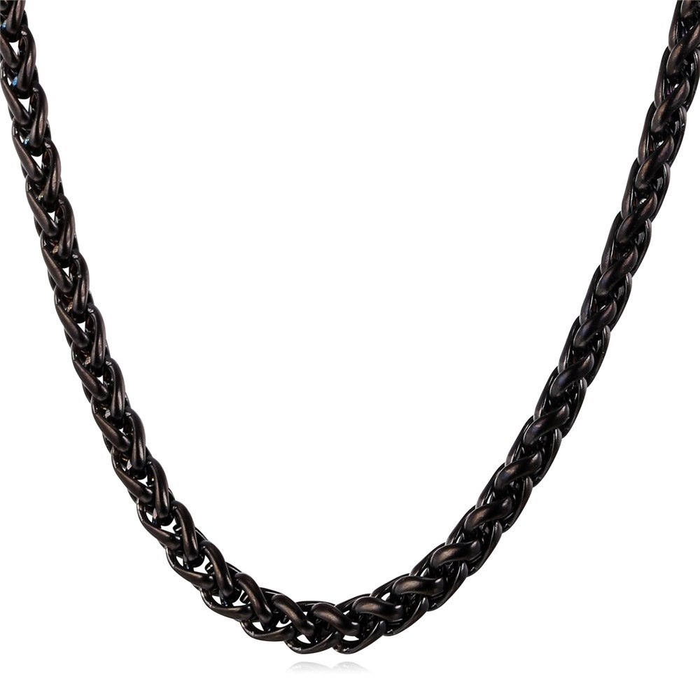 U7 Chains For Pendant Men Women Necklace Rolo, Bead, Flat, Box, Spiga Adjustable Chain U7 Jewelry U7 N879B