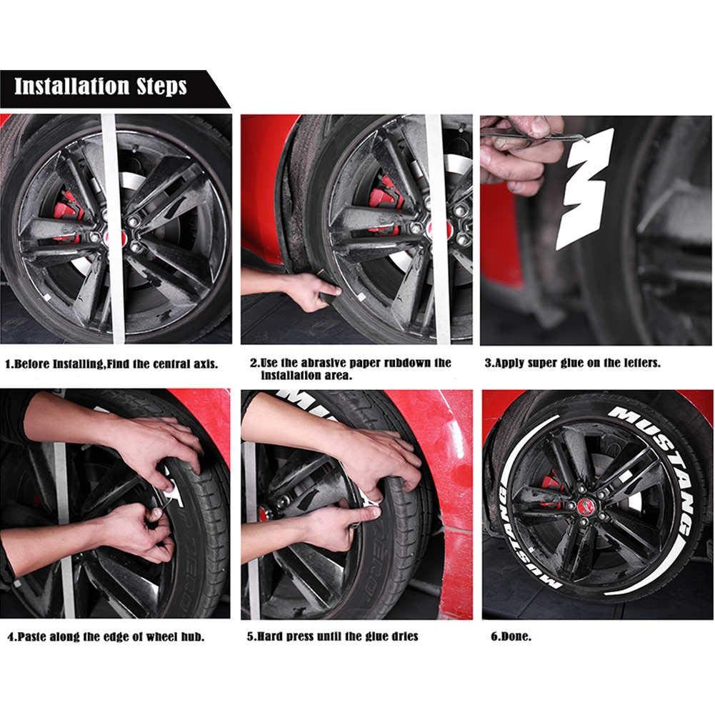 Wheel Rim Stickers Car Tire Wheel Sticker Car Wheel Label Rubber Stickers Car Tuning Waterproof Antifouling For Most Auto Motorcycle Model