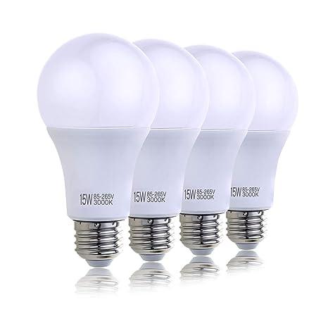 Hzsane Bombillas de A70 LED E27 de 15W, Bombillas Incandescentes Equivalente de 120W, 3000K