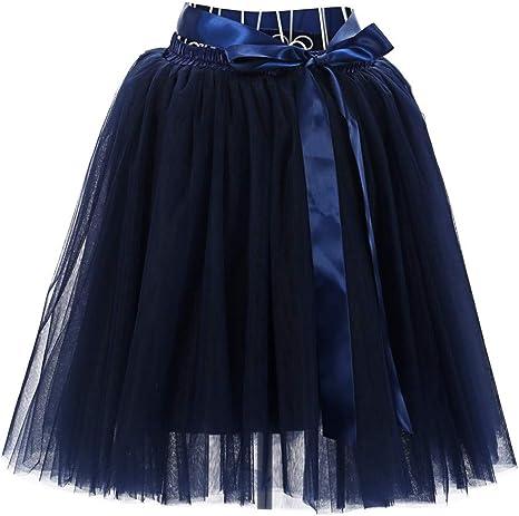 Beladla Falda para Mujer Vintage Suave 50S Retro Rockabilly Enaguas MiriñAques Faldas Ballet Faldas Vestido De Baile: Amazon.es: Ropa y accesorios