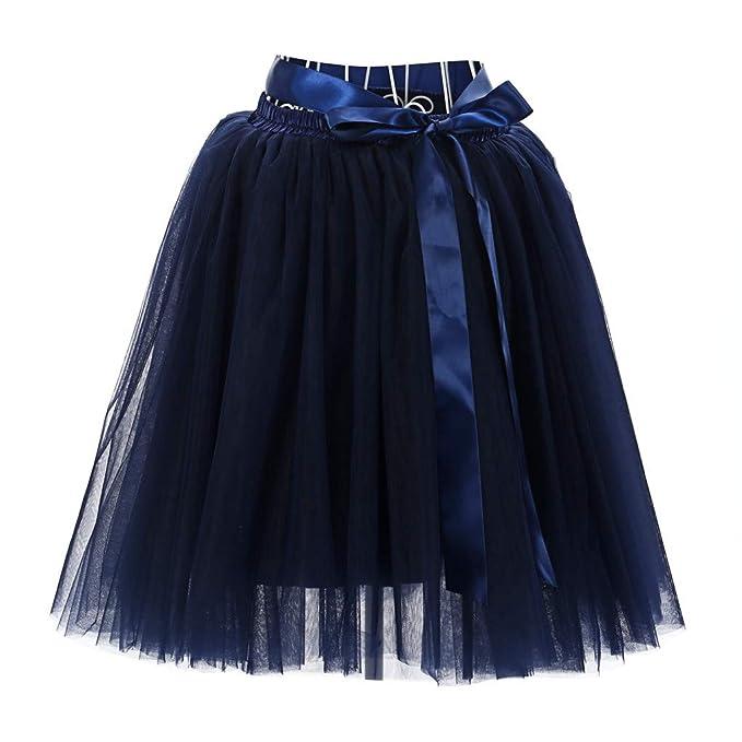 cda9972f2 Vectry Falda Azul Oscuro Falda Midi Faldas Cortas Fiesta Falda De ...