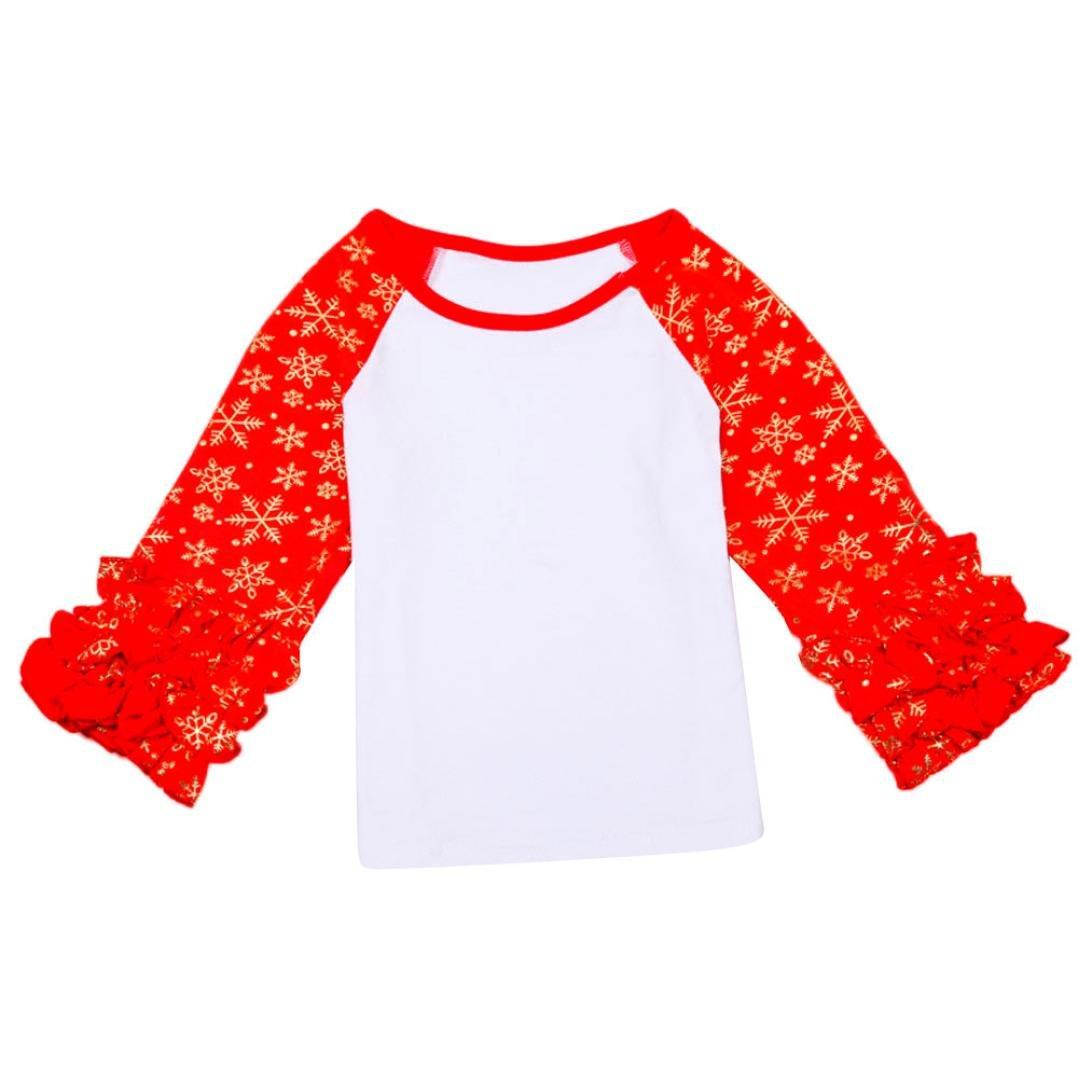 Elevin Toddler Kids Girls Spring Winter Raglan Gold Polka Dot T-shirt Blouse Tops TM