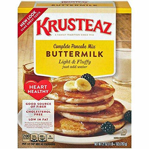 Krusteaz Complete Pancake Mix Buttermilk Heart Healthy (50.4 oz)