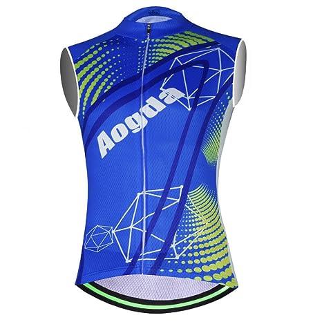 2ac486ac446139 Aogda Sleeveless Bike Shirts Men Cycling Jerseys Vests Bicycle Clothing  (01A