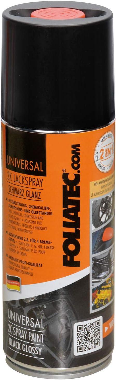 Foliatec 2131 Universal 2k Lackspray Schwarz Glänzend 400 Ml Auto