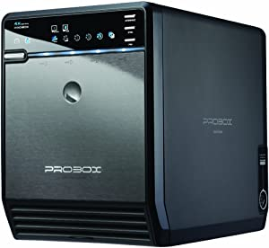 "Mediasonic HF2-SU3S2 4 Bay 3.5"" SATA Hard Drive Enclosure – USB 3.0 & eSATA Support 10TB – Renewed"