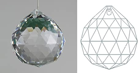 Clear 30mm Chandelier Crystals Ball Asfour Lead Crystal Prism Sun Catcher 1