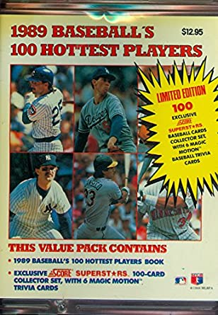 1989 Score Baseball Baseballs 100 Hottest Players Book Album Guide