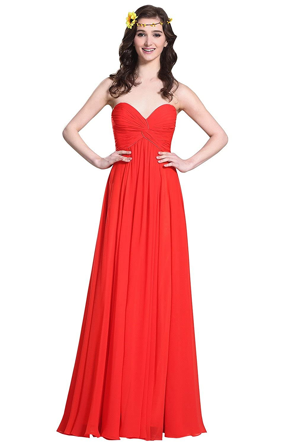 eDressit Strapless Sweetheart Red Evening Dress Bridesmaid Dress (07153802)