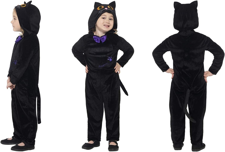 Fancy Dress World Disfraz de Gato con Capucha y Ojos Impresos en ...
