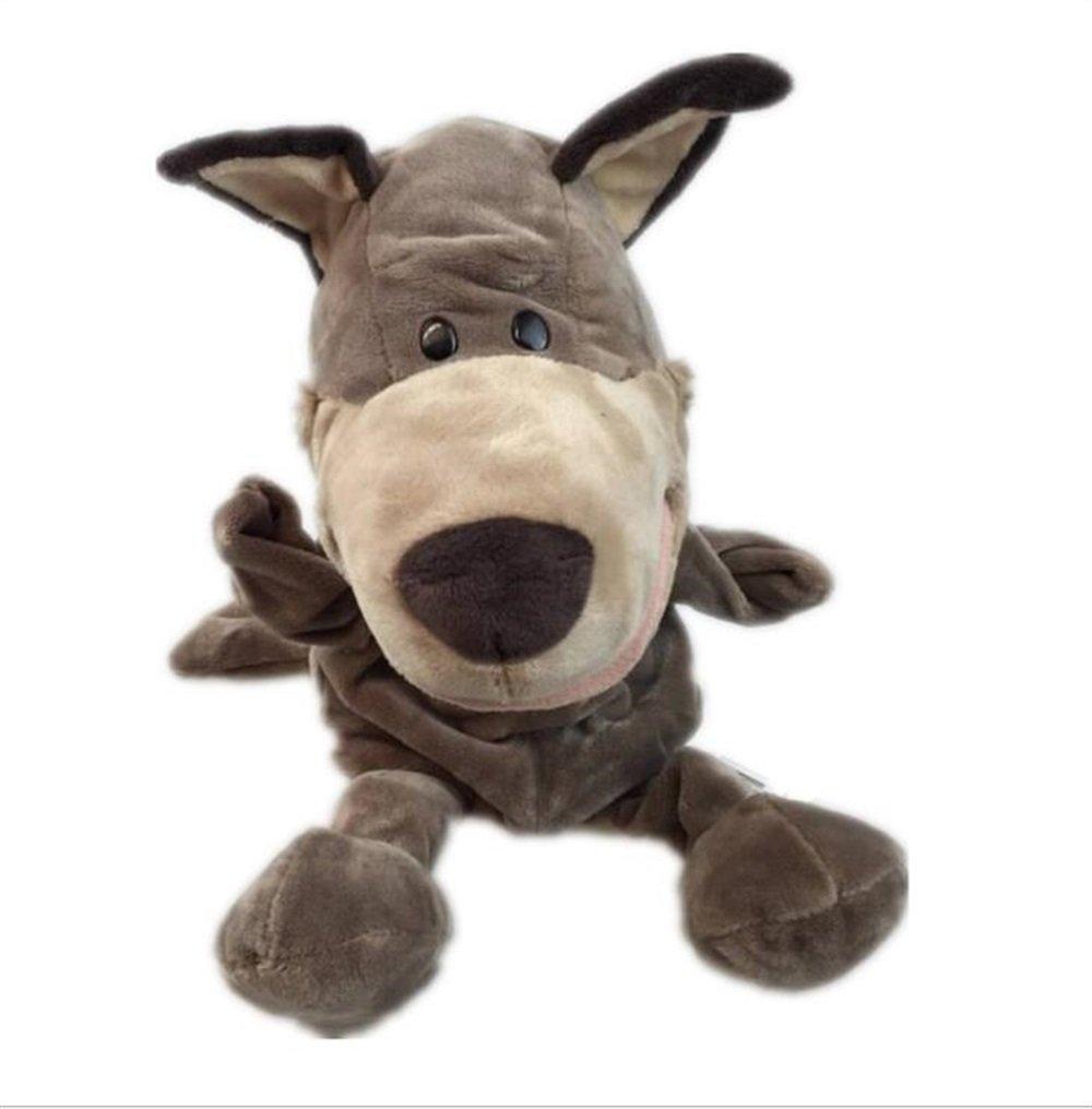 IU Desert Rose Simpatico Pupazzo Giocattolo Dito Marionette animali a mano Giocattoli educativi per bambini (Lupo grigio)