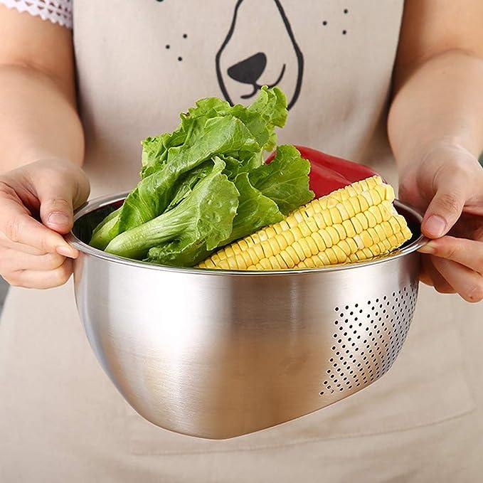 Gurxi 6 Pi/èces Tamis /à Riz Passoire Tamis /à Mailles Cuill/ère /à Bouillie Spatule /à Riz de Cuisine en Plastique pour la Cuisson dans la Cuisine