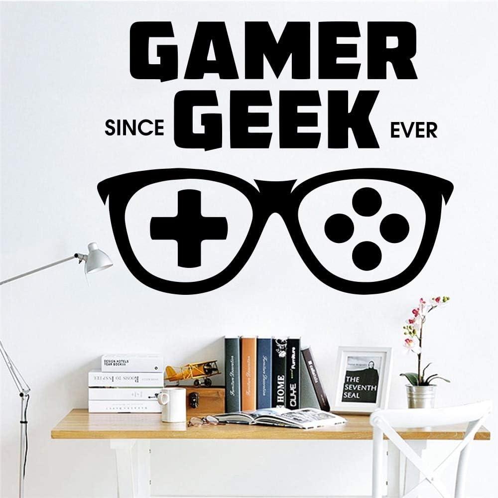yaofale Gamer de Dibujos Animados Geek PVC Etiqueta de la Pared calcomanía para niños decoración de la habitación Vinilo Arte calcomanía decoración del hogar Accesorios