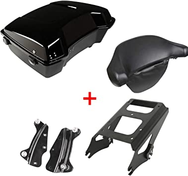 Detachables Two-Up Tour-Pak Mounting Rack Compatible with Harley Davidson Touring Glide 2009-2013 FLHR FLHRC FLHT FLHX FLTR FLTRX FLHRSE5 FLHXSE//2//3 FLTRSE3 XFMT Razor Tour Pak Pack Trunk