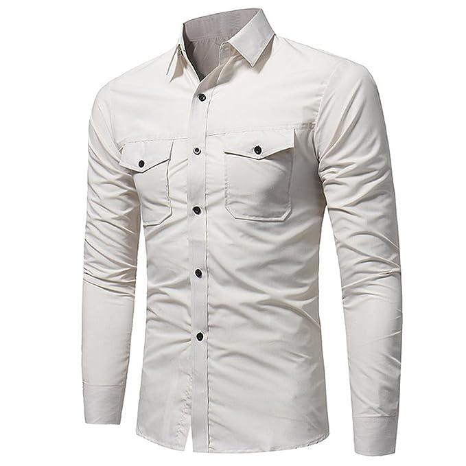 Kword Felpa Lunga Manica Autunno Camicetta Top Pulover Uomo Elegante Shirt itAbbigliamento Magliette Moda Camicia ShirtAmazon Casual T N8mw0vn