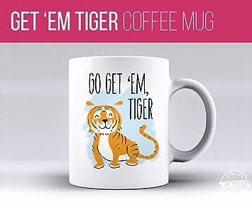 Amazon.com: Go Get Em Tiger Taza de café – apta para ...