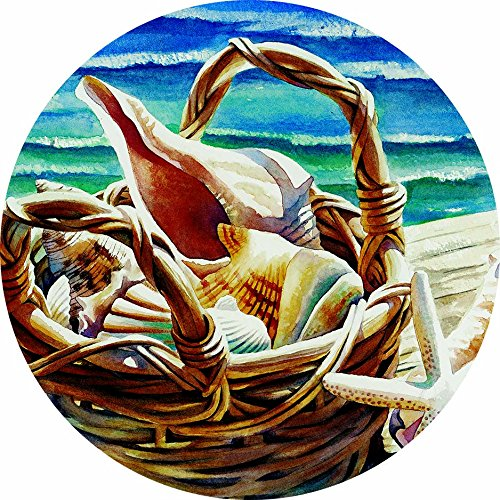 Accent Magnet-Shell Basket - Auto - Home - Kitchen -Yard -Six (6) Inch - Made in USA - Licensed , Copyrighted by Custom Decor Inc.