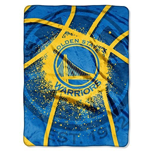 NBA Golden State Warriors Royal Plush Raschel Twin Throw Blanket 60'' x 80'' by The Northwest Company