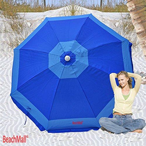 (Deluxe 6 ft Rio Beach Umbrella Sunshade UPF 100+)