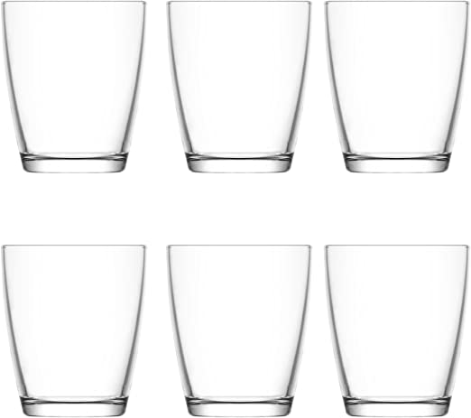 New Set Of 12 Tall Drinking Glasses Tumblers 340ml Water Juice Cocktail Glasses