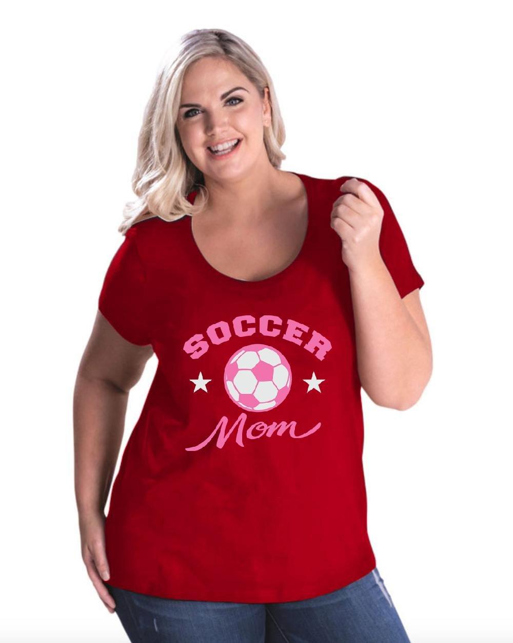 Soccer Fan Gift Soccer Mom Curvy Plus Scoopneck Tee 7483 Shirts