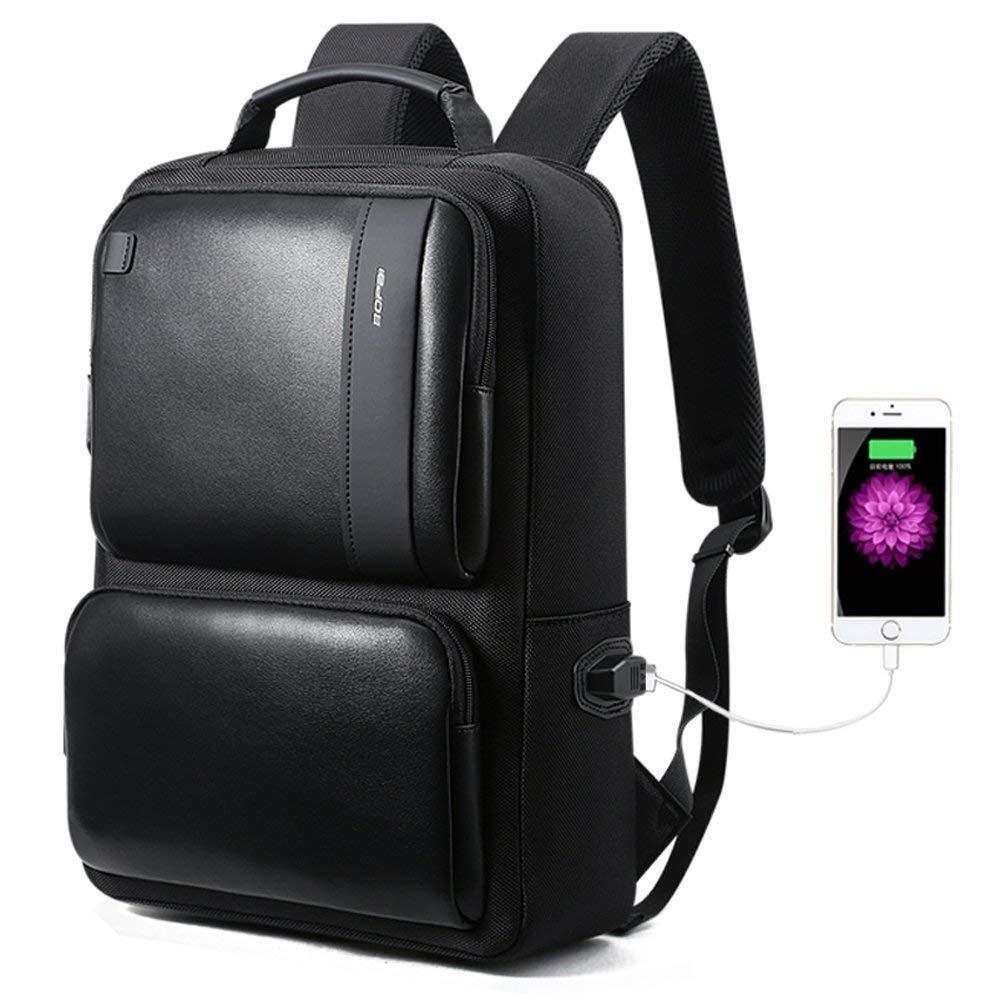 ノートパソコンビジネスバックパック、USB充電ポート、盗難防止旅行アウトドアバックパック (Color : ブラック, Size : 44×31.5x16CM)   B07QGPDM4G