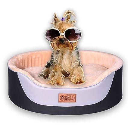 Cama para Perros De Ronda Lujo, Cama para Mascotas Cat, Durable Tela Oxford,