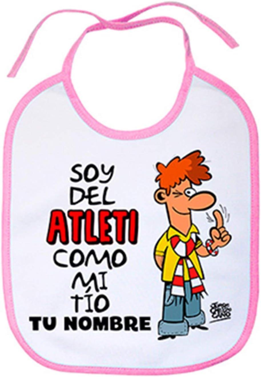 Babero soy del Atleti Atl/ético de Madrid como mi tio personalizable con nombre Rosa