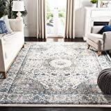 Safavieh Evoke Collection EVK220D Vintage Oriental Grey and Ivory Area Rug (9' x 12')