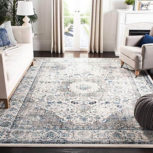 "Safavieh Evoke Collection Vintage Oriental Grey and Ivory Area Rug (6'7"" x 9') from Safavieh"