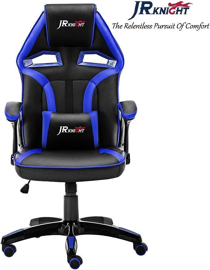Chaise-course de Bureau Pivotante en Cuir exclusive /à la marque Alien Design noir//blanc JR Knight