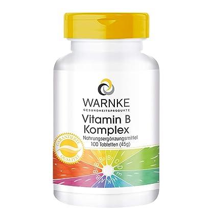 Vitamina B Complex – con todas las vitaminas B esenciales – Productos para la salud Warnke