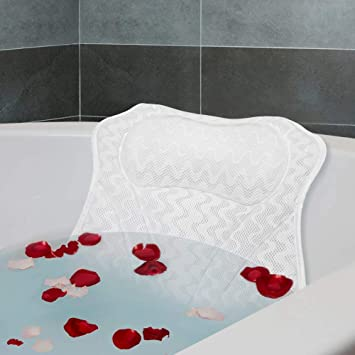 Amazon.com: Raffaelo Spa almohada de baño, ventosas ...