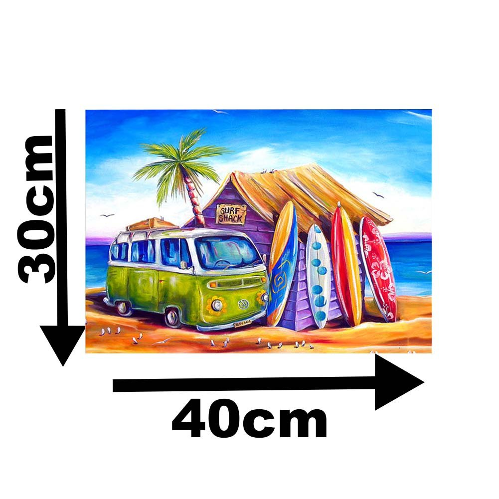 TWBB Diamond Painting Kit for Adult 5D DIY Part Drill Diamond Painting Sets,Paint by Numbers for Adults 12x16 Beach Car