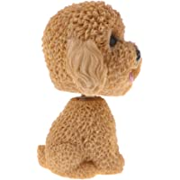 HOMYL Nodding Teddy Dog Puppy Animal Ornaments Mini Bobble-Head Figures Toys Car Interior Home Decoration Ornament Yellow