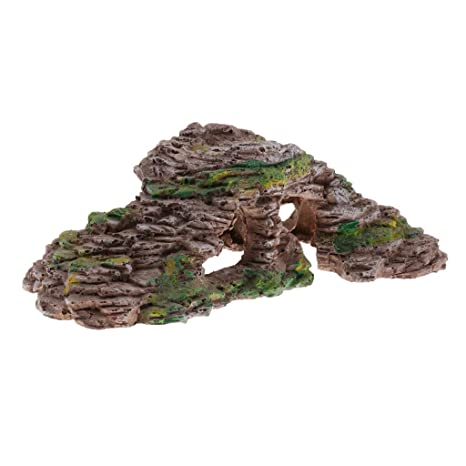 perfk Casa Cueva Resina Reptiles Tortugas Complimentos Pecera Acuario Plantado Fácilmente Cómodo - Estilo 2