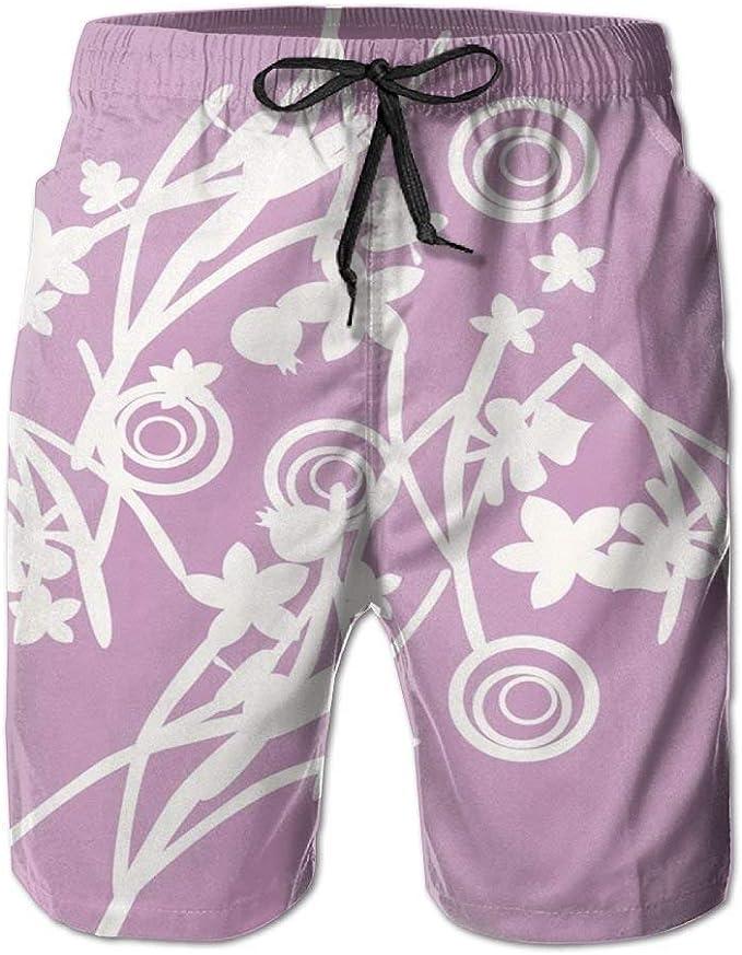 HEAGRWGRE Línea Blanca Pantalones de Playa clásicos de Color Rosa ...
