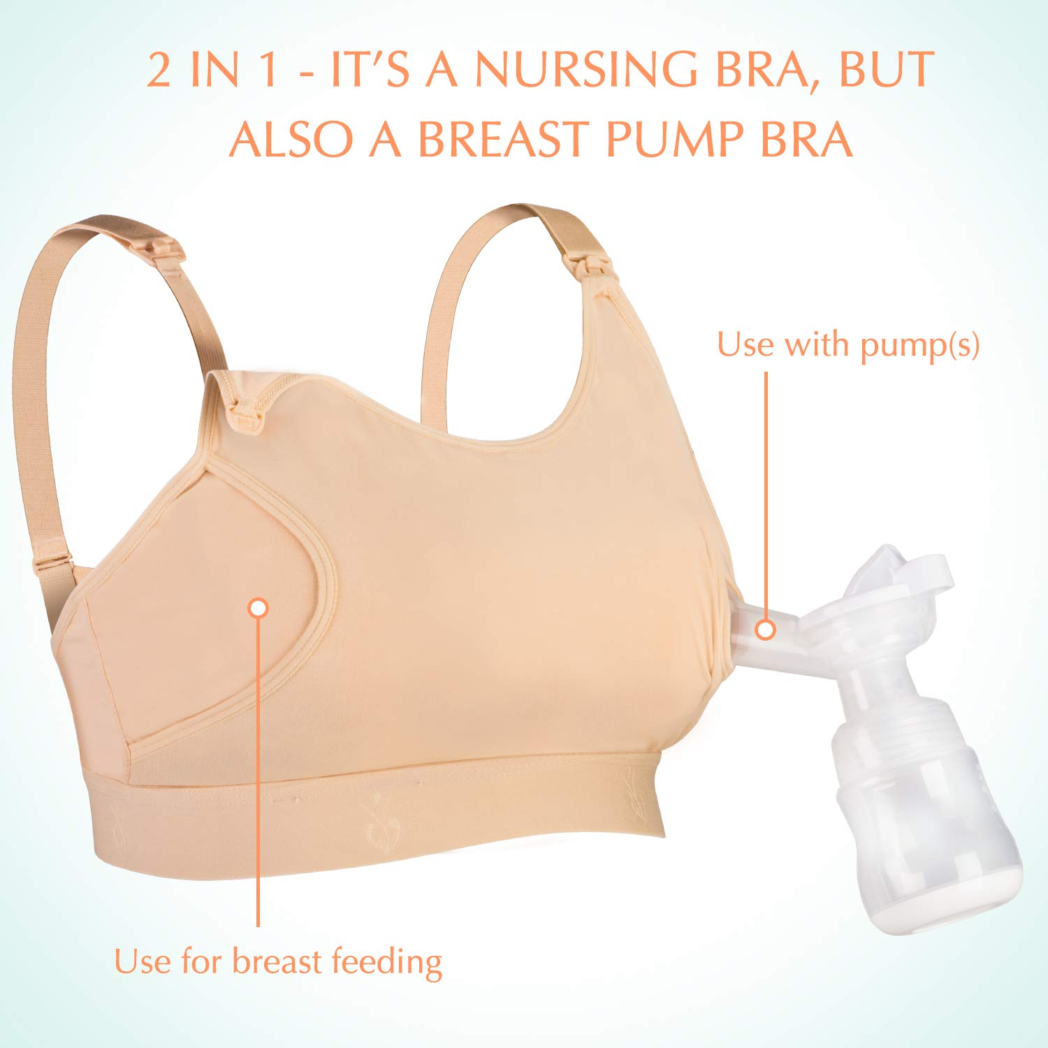 Skin-Small Suitable for Breastfeeding-Pumps by Medela Evenflo and More Philips Avent Hands Free Pumping Bra Momcozy Adjustable Breast-Pumps Holding and Nursing Bra Spectra Lansinoh