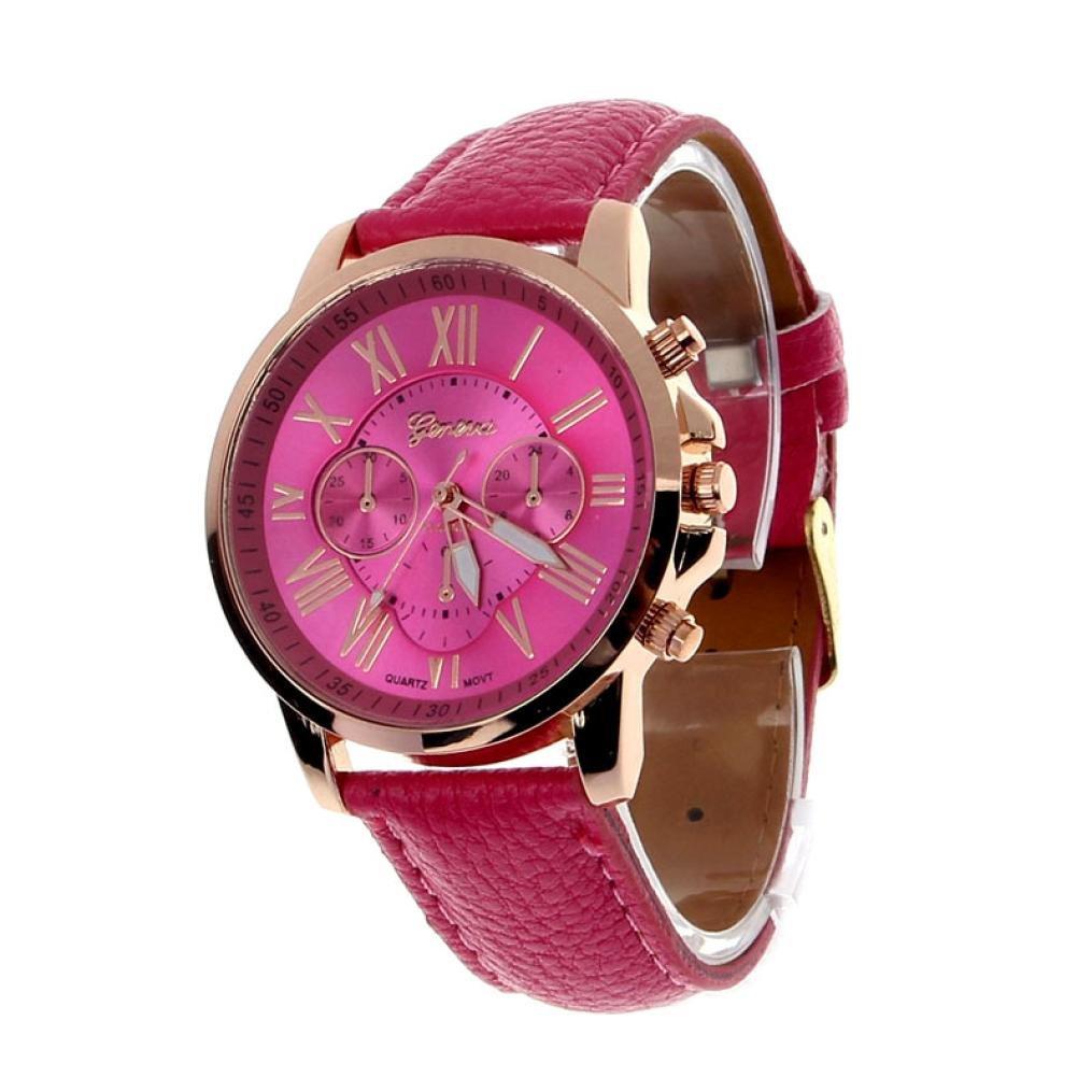 良質  レディースGenevaローマ数字フェイクレザーアナログクォーツ腕時計by B07CRN3GCW rakkiss rakkiss ホットピンク B07CRN3GCW, 100%本物保証!:de6ff90e --- a0267596.xsph.ru