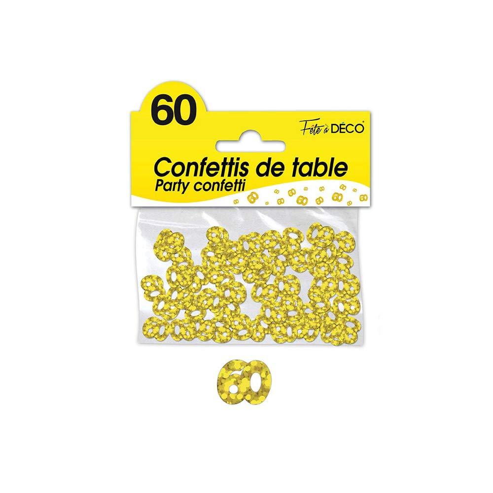 G/én/érique CONFETTIS DE Table 60 Ans Or