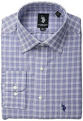 U.S. Polo Assn. Men's Blue and White Plaid