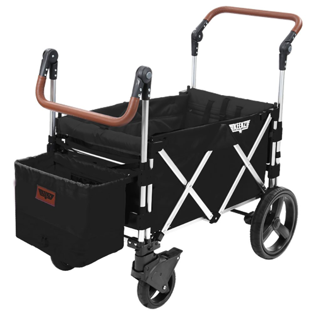 Keenz Stroller Wagon 7S Pull Push Wagon Stroller Safe and Secure Baby Wagon Stroller and Stroller for Big Kids Versatile Wagon Stroller Ideal for Special Needs, Black