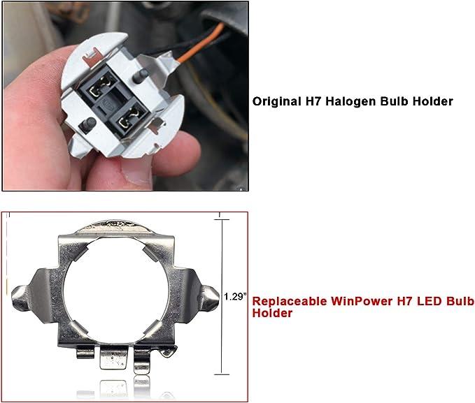 Win Power H7 Led Birne Base Clips Adapter Halter Haltefedern Unterstützung Umwandlung Zubehör 2 Stücke Auto