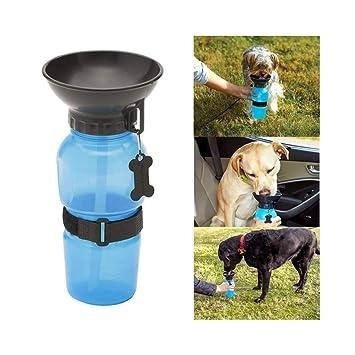 Trade Shop traesiobottiglia dispensador Agua 400 ML Perro Perros Gato Gatos con Cuenco de Viaje: Amazon.es: Productos para mascotas
