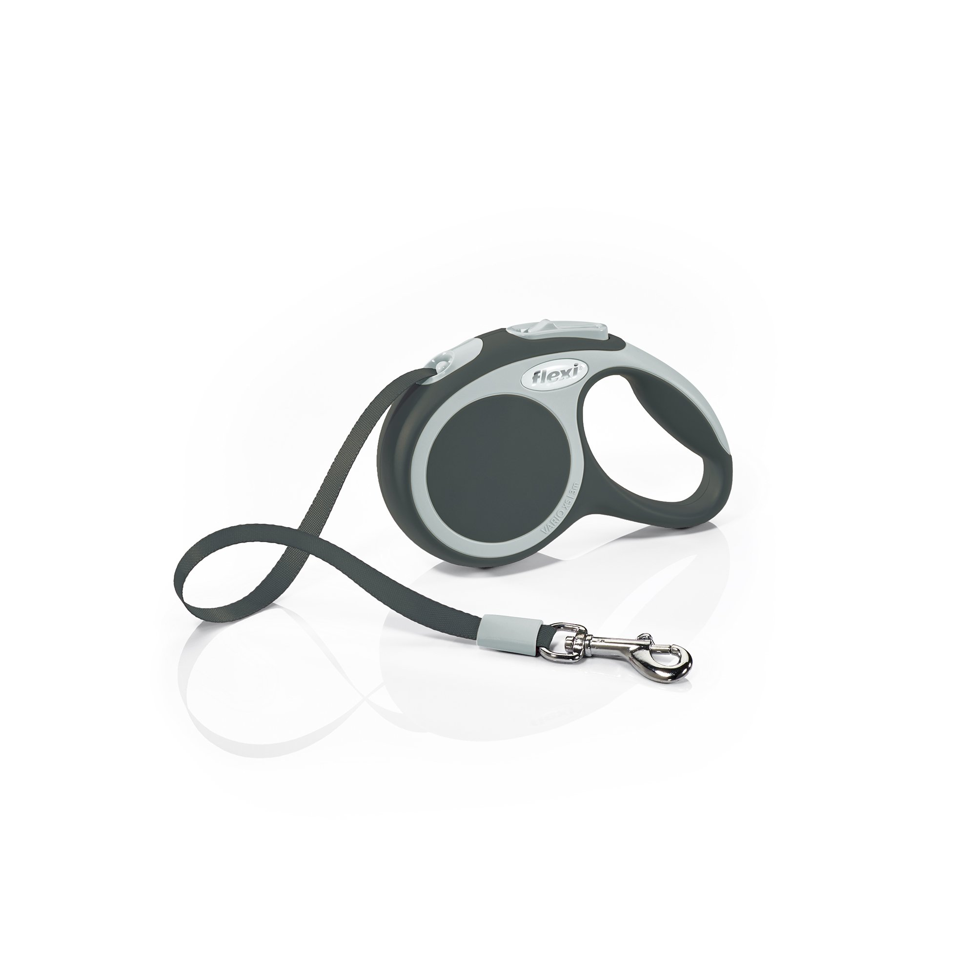 Flexi Vario Retractable Dog Leash (Tape), 10 ft, Extra-Small, Anthracite