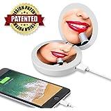 OrimeCharger Powerbank con lo specchio a LED per il tuo iPhone X, 8, 8+, 7, 7+, 6S, 6S +, 6, 6+, 5S o Android (diversi colori disponibili)
