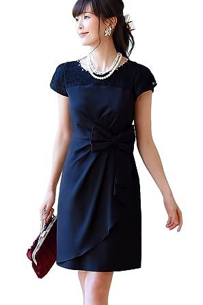 89423ce34f7 RUIRUE BOUTIQUE(ルイ・ルエ・ブティック) リボン タイトライン ワンピース ドレス(U512