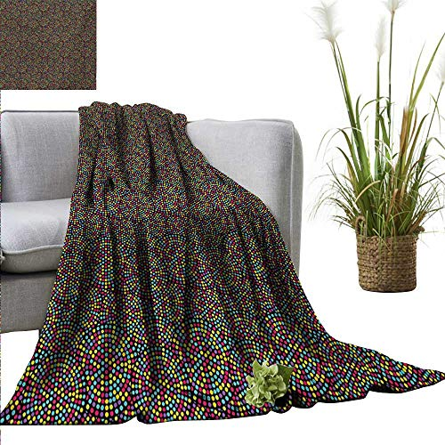 Colorful Blanket Sheets Lively Colored Polka Dots Round Figu