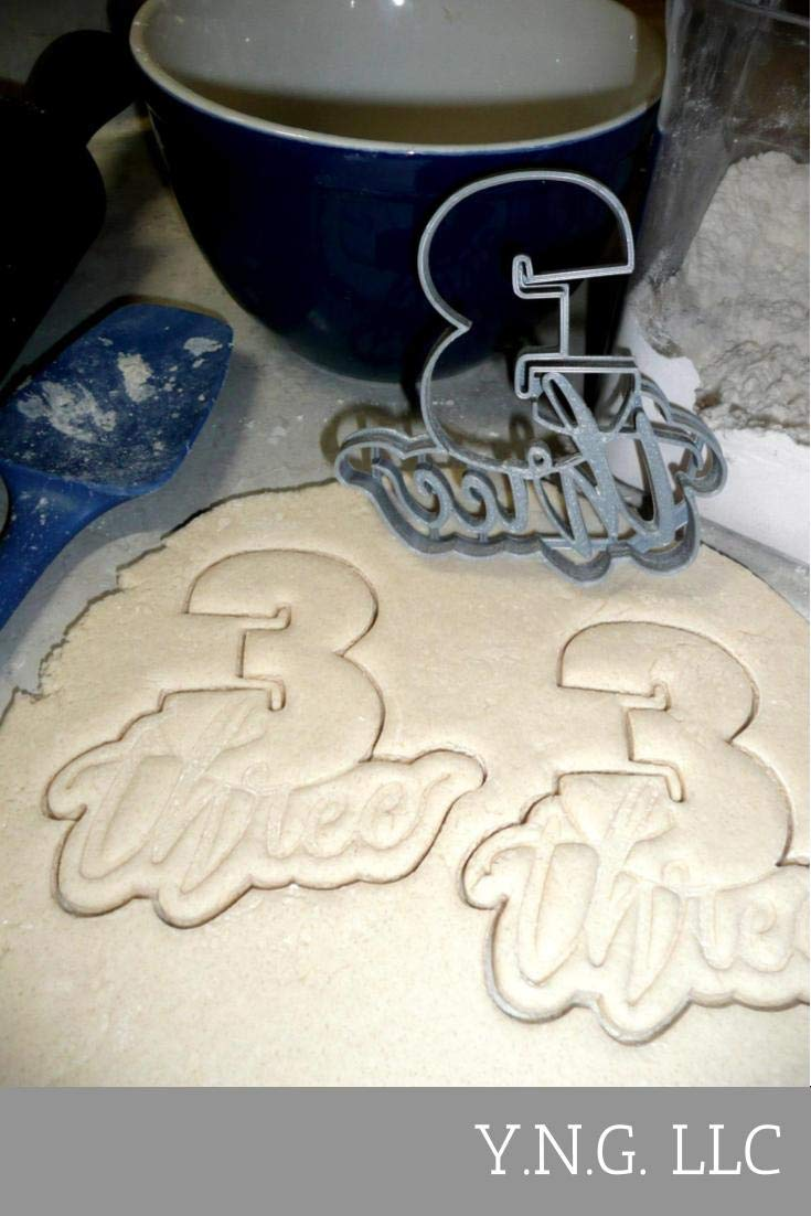 NUMBER WITH WORDS LETTERED 1 ONE THROUGH 10 TEN PLAQUES WORD NUMBERS PARTY BIRTHDAY CELEBRATION SET OF 10 SPECIAL OCCASION COOKIE CUTTERS BAKING TOOL 3D PRINTED MADE IN USA PR1157 by YNGLLC (Image #4)