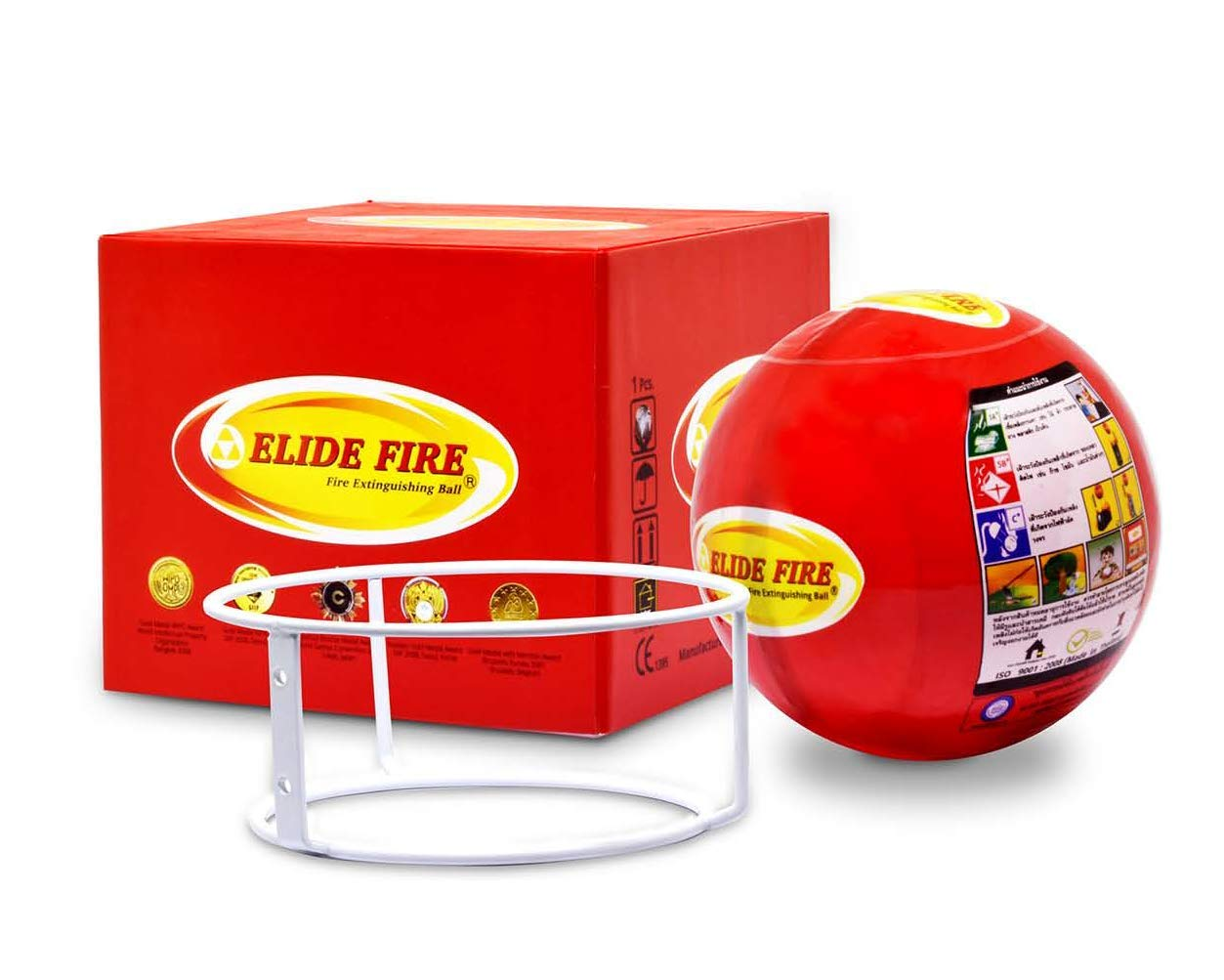 Elide Fire Ball, Self Activation Fire Extinguisher, 2018 New Version , Boat Extinguisher, Car Extinguisher, Fire Safety Product, Elide, 5 Year warranty by ELIDE FIRE